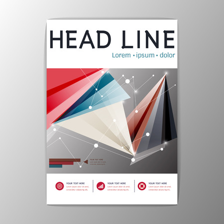 A4 Creative set Flyer Brochure Design Templates Layout. Geometric Abstract Modern BackgroundVector illustration Illustration