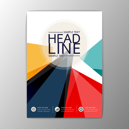 Vector ontwerp abstracte Brochure Flyer Zakelijke zakelijke sjabloon indeling A4-formaat Stock Illustratie
