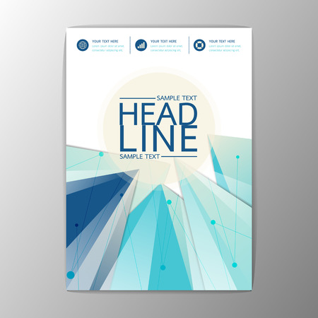 flyer layout: Vector Abstract Brochure Background Triangle design Template Flyer Layout A4 size Illustration