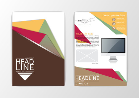A4 Abstract Background design Business Brochure Flyer Layout magazine Vector illustration