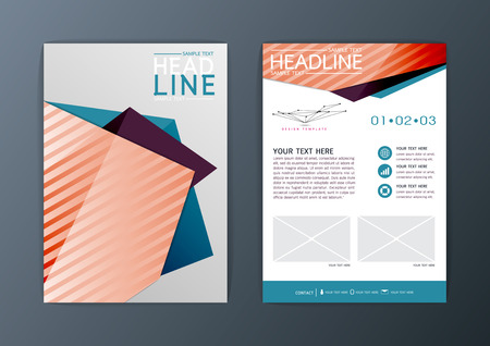 A4 Abstract Background design Business Brochure Flyer Layout magazineVector illustration