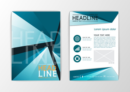 flyer layout: A4 Abstract background design business brochure set flyer layout magazinevector illustration Illustration