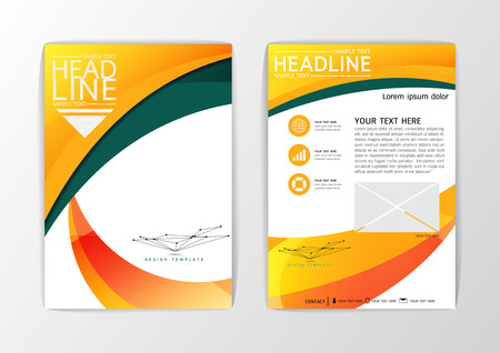 Modern abstract brochure book magazine flyer design template with paper A4 sizeVector illustration