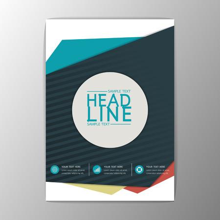 モダンなデザイン チラシ パンフレット雑誌レポート ビジネス テンプレート抽象的な背景 A4 sizeVector 図  イラスト・ベクター素材
