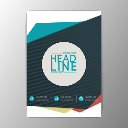 Moderno diseño de flyer revista informe folleto plantilla de negocio abstracto A4 sizeVector ilustración