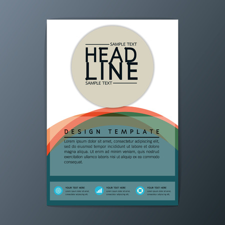 flyer layout: Vector design abstract Brochure Background Business Corporate Template Flyer Layout A4 size Illustration