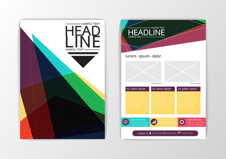 Abstract Background modern design, Business Brochure Template Layout, Flyer, magazine, A4 size-Vector illustration