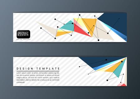 Abstract polygon modern design, banner set, Vector illustration