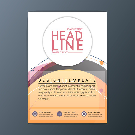circles background: Vector circle design abstract Brochure Background, Business Corporate Template Flyer Layout, A4 size