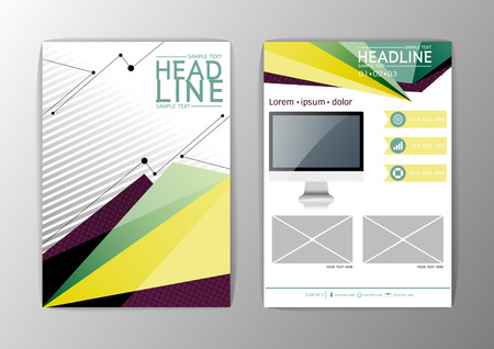 Abstract Background Brochure Template, Business Triangle Corporate, Flyer  Layout Vector Illustration Vector