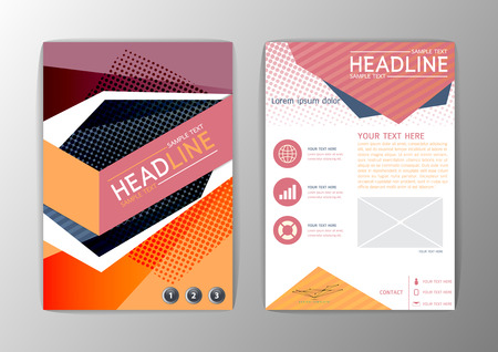 Abstract Brochure Template, Modern Business Geometric corporate background Flyer Layout-Vector illustration