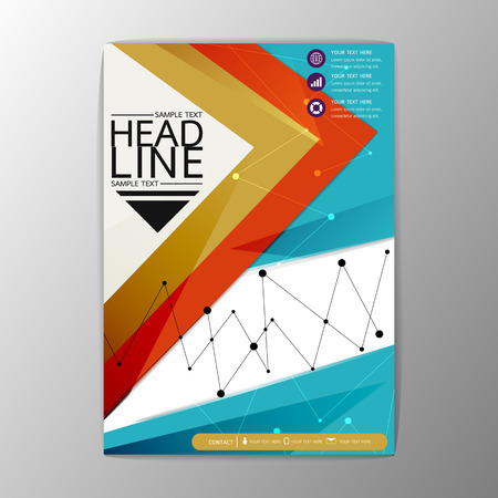 Modern abstract background design, magazine, brochure, flyer, business template, A4 size-Vector illustration