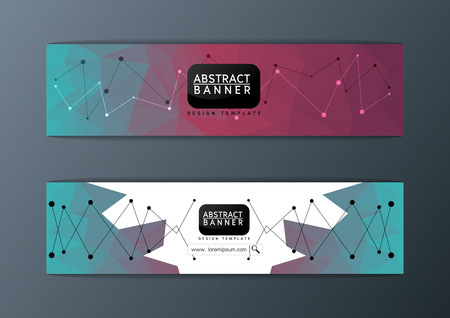 science text: Abstract modern banner polygon background design template illustration Illustration