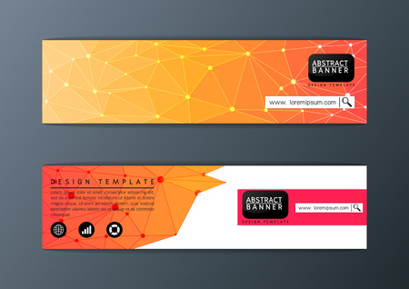 Abstract modern banner polygon background design template