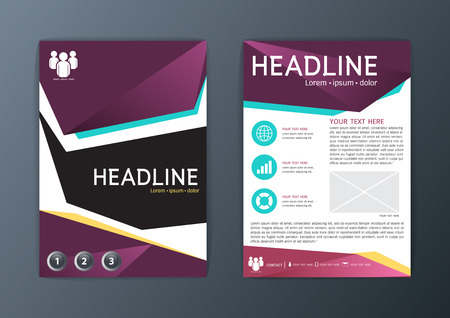 magazine template: Abstract polygon design, Brochure Flyer, magazine template, A4 size illustration