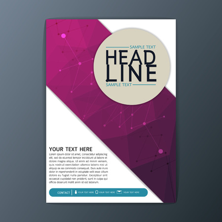 page layout: Creative Abstract Polygon Background design, Business Corporate Brochure Template Flyer Layout illustration