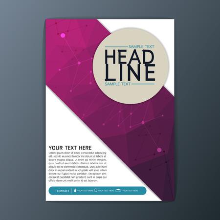 folleto: Diseño creativo Resumen Antecedentes Polígono, Negocio corporativo Folleto Plantilla del aviador diseño ilustración Vectores