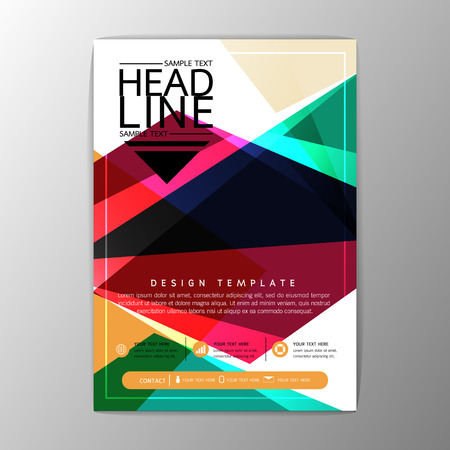 Modern abstract polygon design, magazine, brochure, flyer, business template, A4 size illustration
