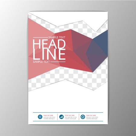Abstract Cover Background Geometric design, Business Corporate Brochure Template Flyer Layout, Vector illustration