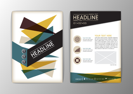 flyer template: Abstract Cover Background, Business Corporate Brochure Template Flyer Layout. Vector illustration