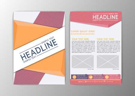 Abstract Cover Triangle design, Brochure Flyer template layout-vector illustration Illustration