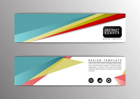 Abstract modern design banner, site-Vector illustration