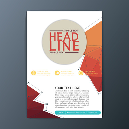 Abstract Polygon Background design, Business Corporate Brochure Cover Template Flyer Layout-Vector illustration Illustration