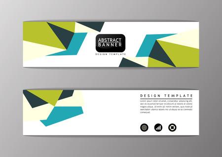 Abstract polygon modern design, banner set,site,Vector illustration