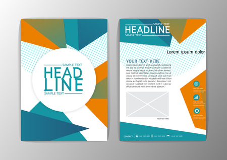 Abstract triangle cover design, Brochure Flyer template layout-vector illustration
