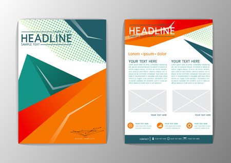 Abstract polygon Background design. Business Brochure Template Flyer Layout-Vector illustration
