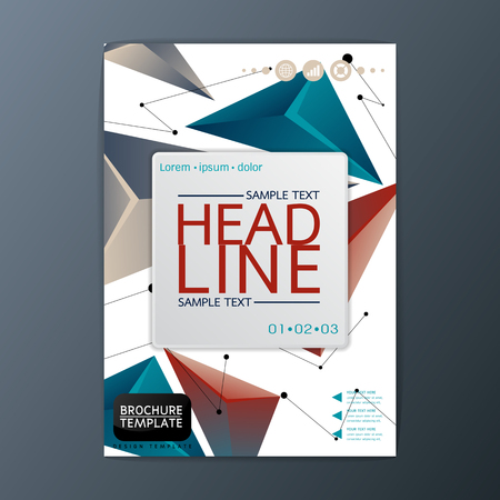 Flyer, magazine, Business brochure template, Abstract Cover Background, A4 size, Vector illustration