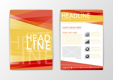 A4 Abstract Cover background design, business brochure set ,flyer layout, magazine-vector illustration Illustration