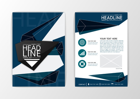 A4 size Abstract polygon background, business brochure, flyer layout, magazine-vector illustration