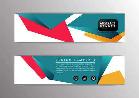 triangular banner: Abstract modern design banner, template, site-Vector illustration Illustration