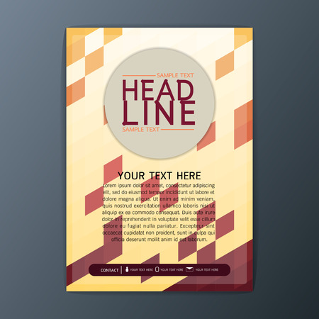 Creative Abstract Polygon Background, Business Brochure Cover Template Flyer Layout-Vector illustration