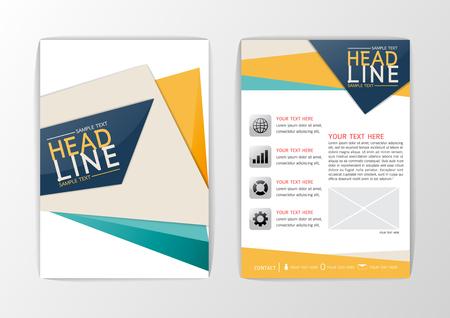 informe: Diseño abstracto A4 Cubierta fondo, conjunto folleto negocio, diseño de volante, ejemplo de la revista-vector