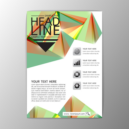 A4 Abstract Cover Background Geometric design, Business Corporate Brochure Template Flyer Layout, Vector illustration
