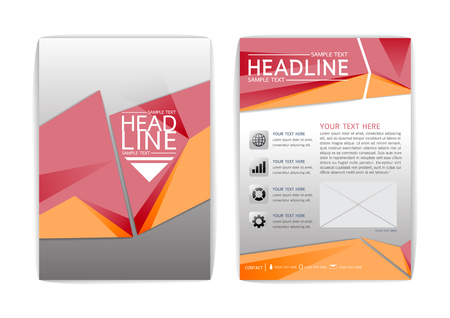 Abstract Cover Brochure Template, Modern background, Business corporate Flyer Layout-Vector illustration