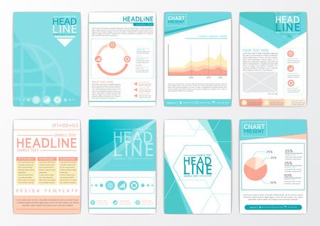 Abstract background design, business brochure big set, flyer layout, presentation, advertising, marketing, magazine-vector illustration Illustration