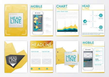 A4 Abstract background design, business brochure big set, flyer layout, presentation, infographic, marketing, magazine-vector Illustration
