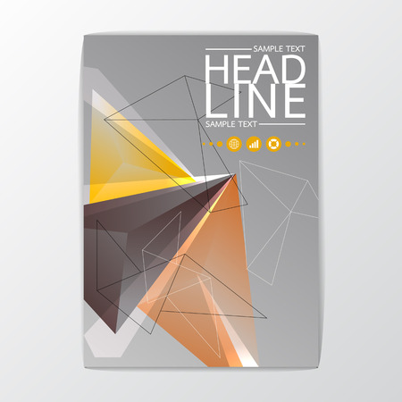 A4 size, Abstract Background polygon design, Brochure Template, Flyer Layout, Vector illustration