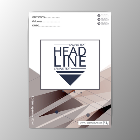 A4 Size, Abstract Cover Background polygon design, Business Corporate Brochure Template Flyer Layout, Vector