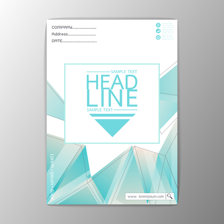 A4 Size, Abstract Cover Background polygon design, Business Corporate Brochure Template Flyer Layout-Vector