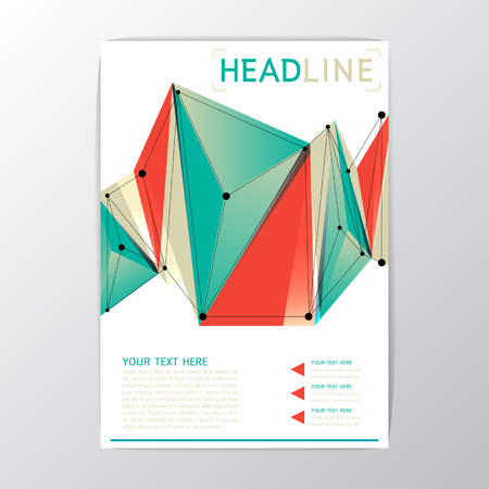 background cover: A4 size, Creative Abstract Background polygon design, Brochure Template Flyer Layout, Vector illustration