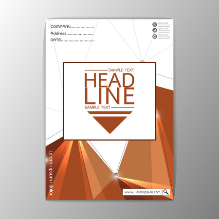 Abstract Cover Background polygon design, Business Company Brochure Template Flyer Layout, Vector Illustration
