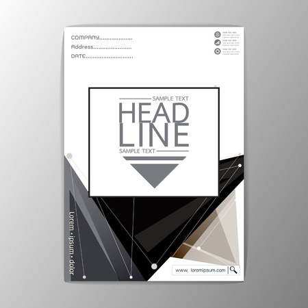 Abstract Cover Background polygon design, Business Company Brochure Template Flyer Layout-Vector