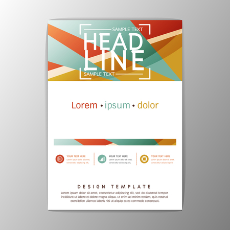 A4 Size, Abstract Cover Background polygon design, Brochure Template, Flyer Layout, Report, magazine,Vector illustration Illustration