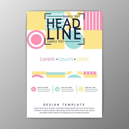 A4 Size, Abstract Cover Background polygon design, Brochure Template, Flyer Layout, Report, magazine-Vector illustration Illustration
