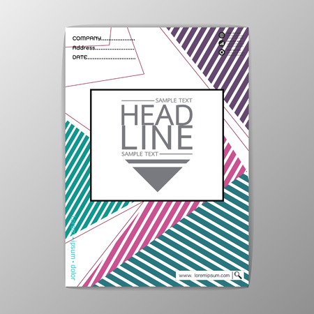 A4 Size, Abstract Cover Background polygon design, Business Brochure Template, Flyer Layout, Report, Vector illustration Illustration
