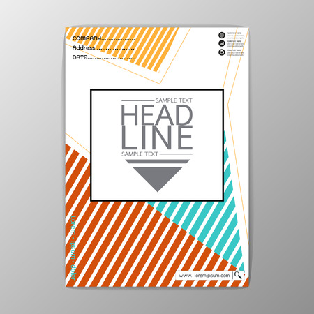 A4 Size, Abstract Cover Background polygon design, Business Brochure Template, Flyer Layout, Report, Vector Illustration